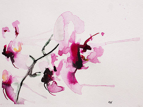 Orchid study III by Karin Johannesson
