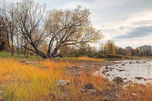 Ottawa River in the Fall. Champlain Bridge. Remic Rapids. by Rob Huntley