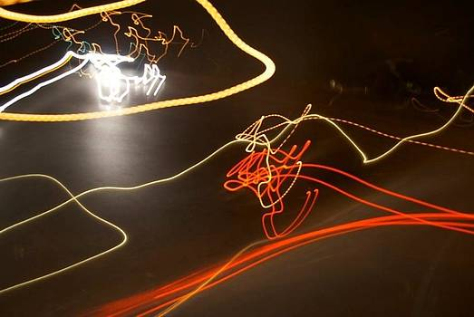 Painting with light 3 by Gina Patton