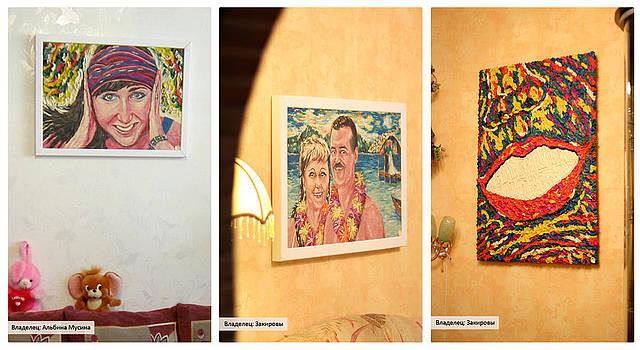 Paints in interier by Marat Zakirov