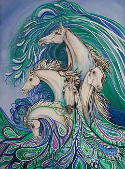 Paisley Sea Horses by Nicole O'Connor