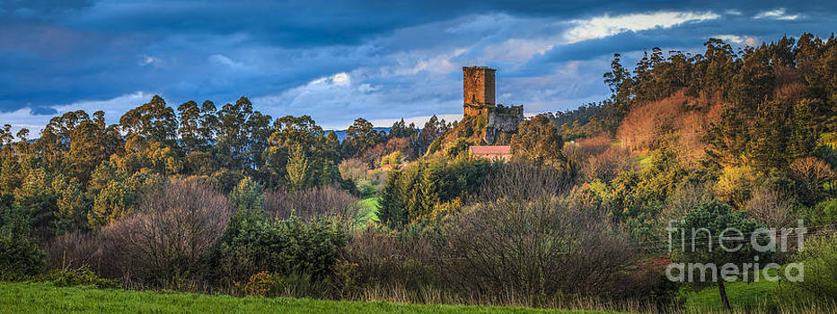 Panorama Of Andrade's Castle Galicia Spain by Pablo Avanzini