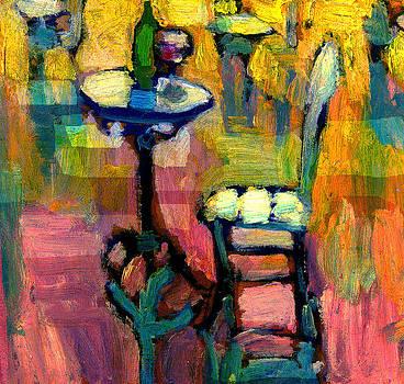 Paris Cafe at Sunset by Daniel Bonnell