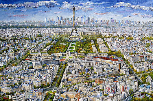Paris Skyline - Eiffel Tower by Mike Rabe