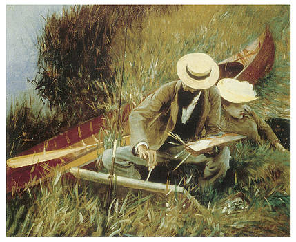 John Singer Sargent - Paul Helleu Sketching with his Wife