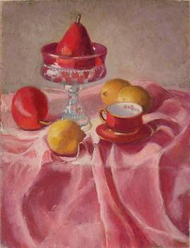 Pear on a Pedestal by Julie Mayser