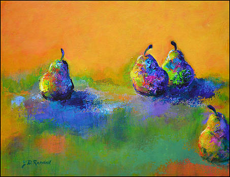 Pears x 4 by Donna Randall