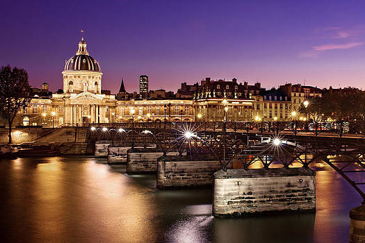 Pont des Arts and Institut de France / Paris by Barry O Carroll
