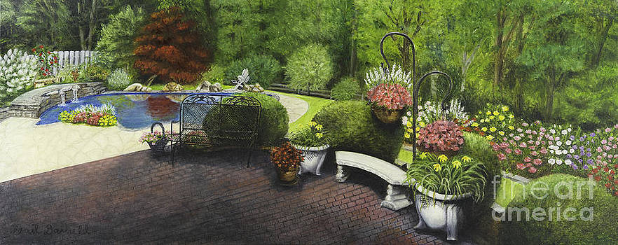Pool and Gardens by Gail Darnell