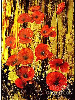 Poppies In Gold by Nelu Gradeanu