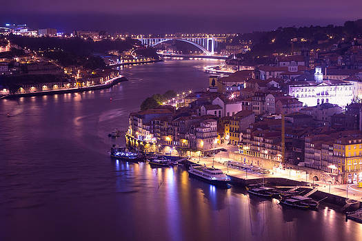 Porto at Night by Musa GULEC