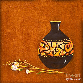 Pot With Flower by Rushdia Batool