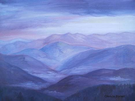 Purple Mountains by Glenda Barrett