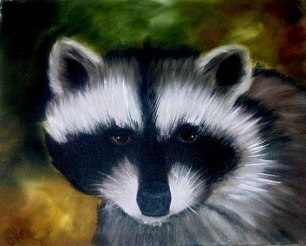 Raccoon by Fineartist Ellen