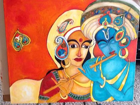 Radha Krishna by Sanjana Shetty