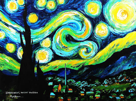 Recreation of Starry Night by Marti Green