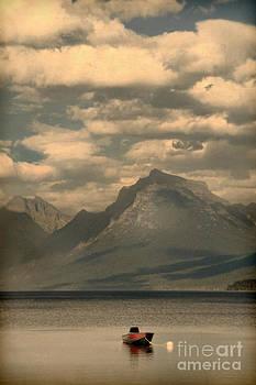 Jill Battaglia - Red Boat on Mountain Lake