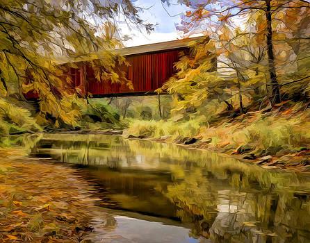 Red Covered Bridge by Jeff Burton