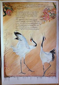 Red Crown Crane story A by Blossom Hackett