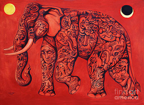 Red Elephant by Kritsana Tasingh