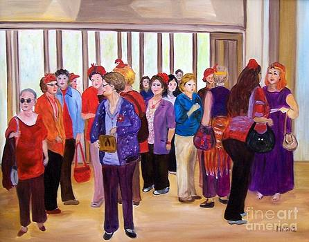 Red Hatters Before the Show by Madeleine Prochazka