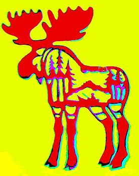 Red Moose by Larry Campbell