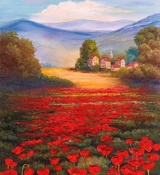 Red Poppies by Jeanene Stein