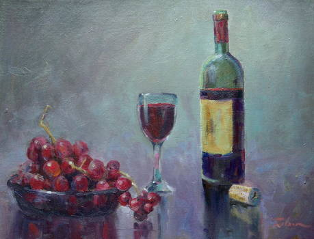 Red - red Wine by Ron Wilson