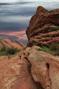 Red Rocks Colorado Sunset  by AR Annahita