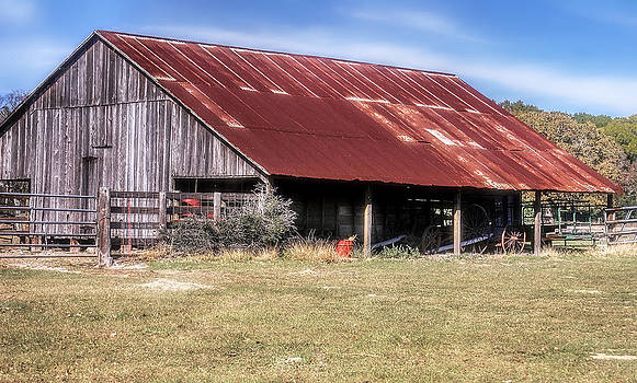 Red Roof Barn by Joan Bertucci