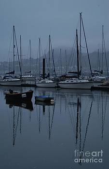 Reflections in Conwy. by Adrian Hillyard