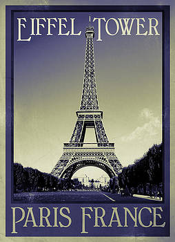 Retro Eiffel Tower by Ron Sumners
