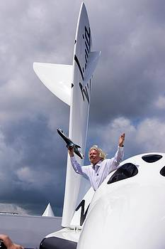 Richard Branson And Spaceshiptwo. by Mark Williamson
