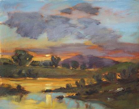 River sunset by Owen Hunt