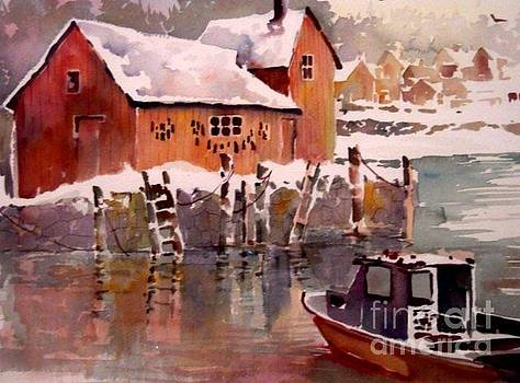Rockport in Winter by Jerry Aissis