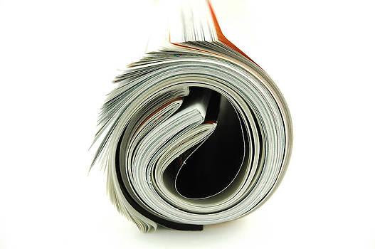 Rolled Magazines by Karin Hildebrand Lau