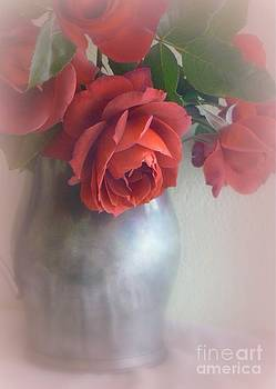 Roses in Pewter Vase by Diana Besser