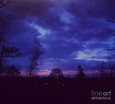 Sagamore Bridge Sunset by Lisa  Marie Germaine