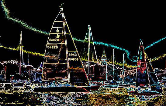 Sailboat Race by Paul Pobiak