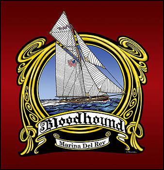 Sailing Vessel Bloodhound by Bill Proctor