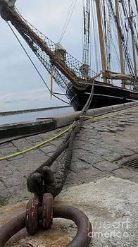 Sailship in Marstal by Susanne Baumann