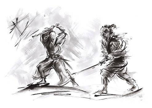 Samurai fight. by Mariusz Szmerdt