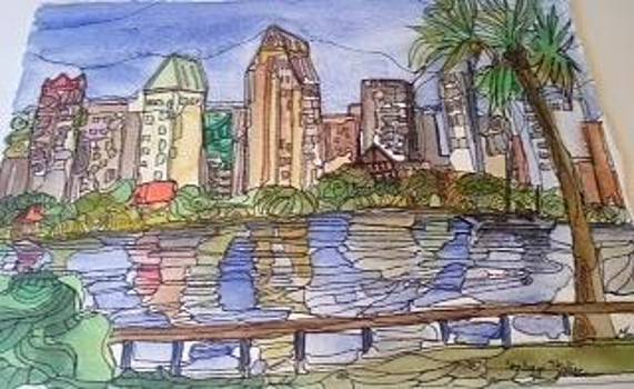 San Diego Skyline by Michelle Gonzalez
