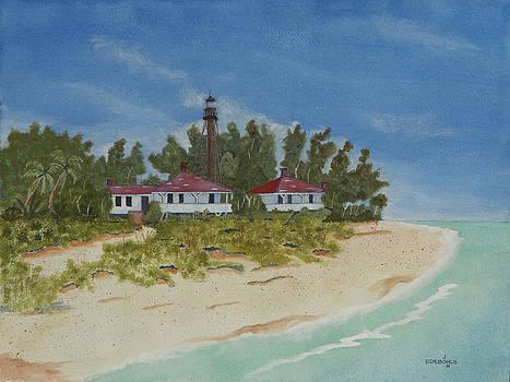 Sanibel Lighthouse by John Edebohls