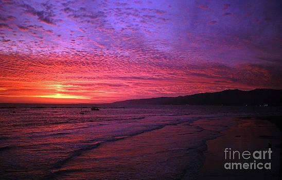 Santa Monica Beach Sunset by Howard Koby