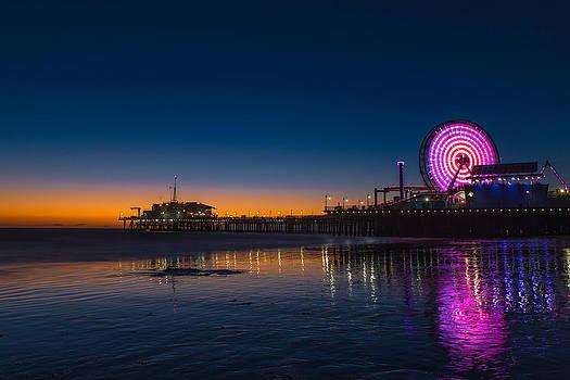 Santa Monica Pier Sunset by Ryan McKee