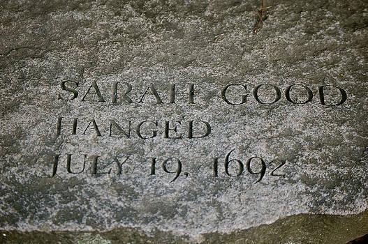 Sherlyn Morefield Gregg - Sarah Good Memorial