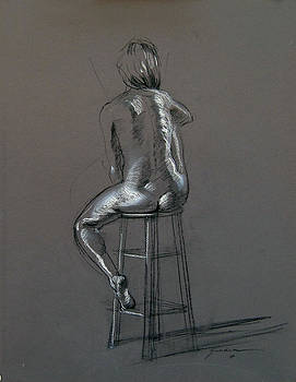 Seated Nude by Keith Gunderson