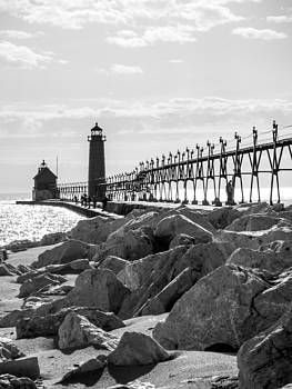 Setting Spring Sun in Grand Haven by Kirsten Dykstra