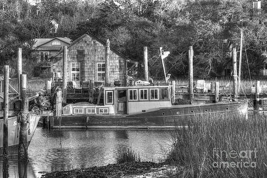 Dale Powell - Shem Creek in Black and White